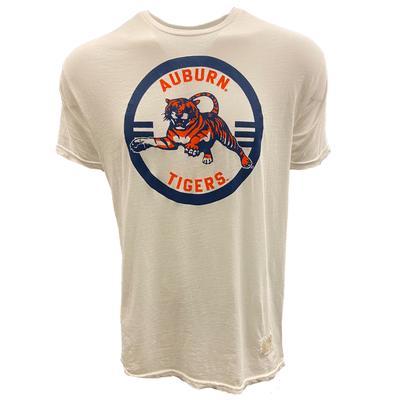 Auburn Retro Brand Pouncing Tiger Vintage Tee