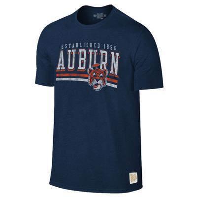 Auburn Retro Brand Mock Twist Tee