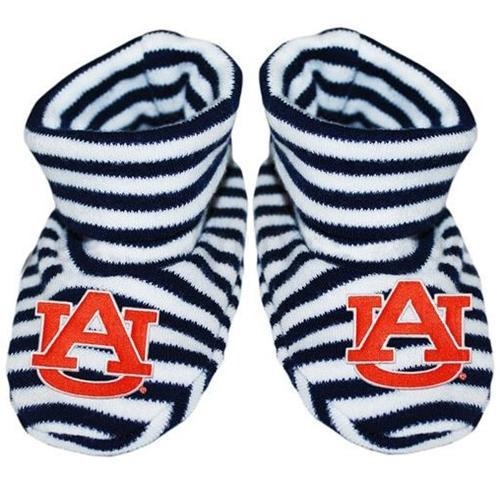 Auburn Infant Striped Booties