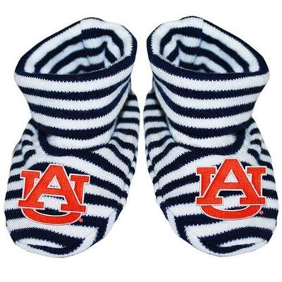 Auburn Infant Striped Booties