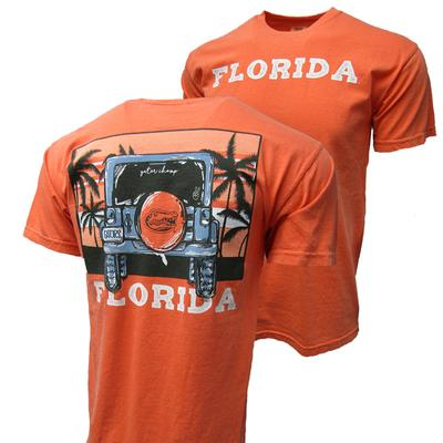 Florida Image One Beach Jeep Adventure Comfort Color Tee