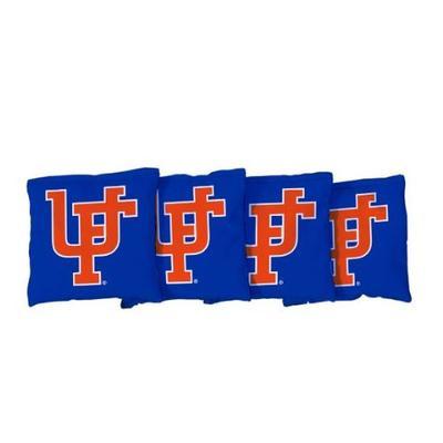 Florida Victory Tailgate Set Of 4 Vault Logo Blue Cornhole Bags