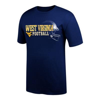 West Virginia Football Tee Shirt with Helmet