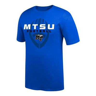 MTSU Vertical Football Tee Shirt