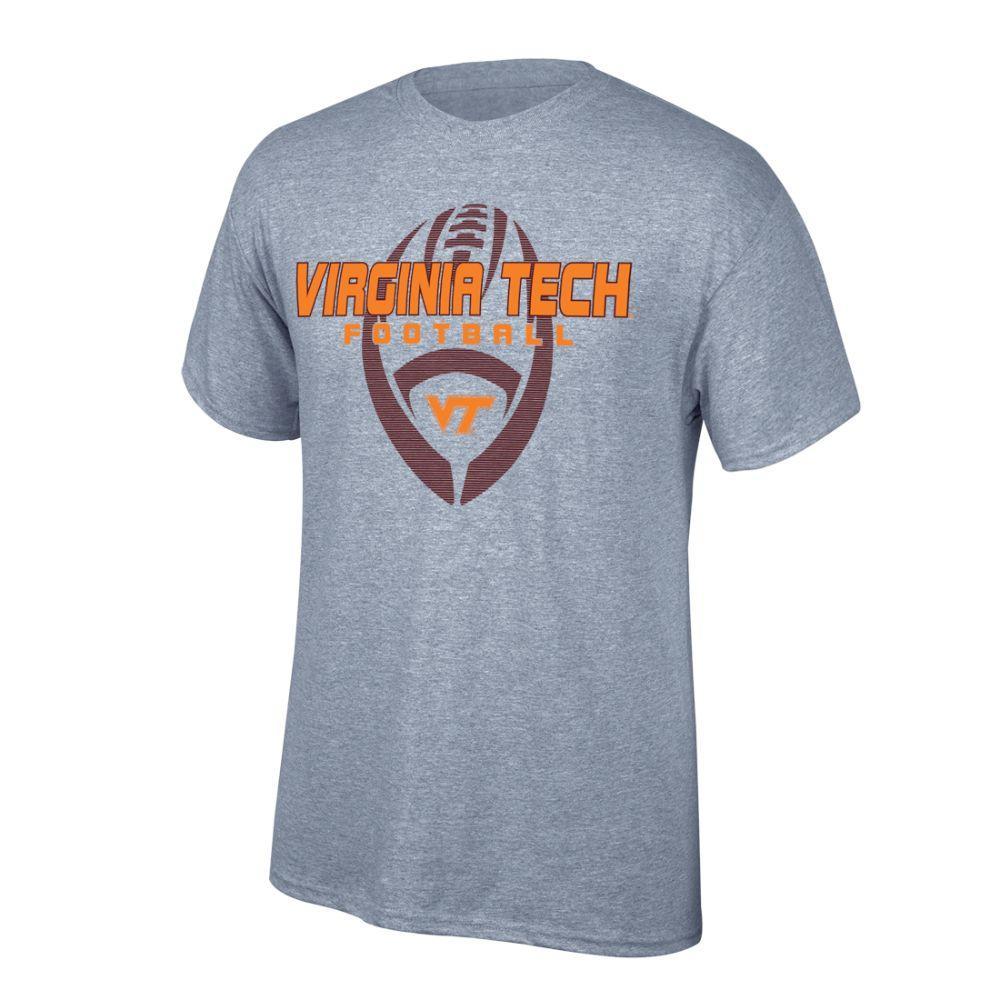 Virginia Tech Vertical Football Tee Shirt