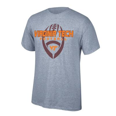 Virginia Tech Vertical Football Tee Shirt