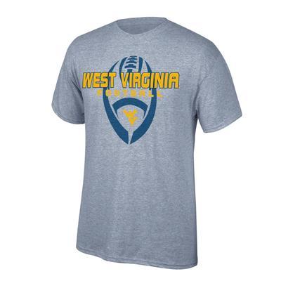 West Virginia Vertical Football Tee Shirt OXFORD
