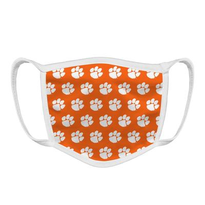 Clemson Tiger Paw Face Mask Orange