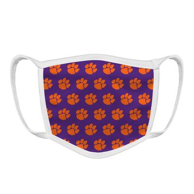 Clemson Tiger Paw Face Mask Purple