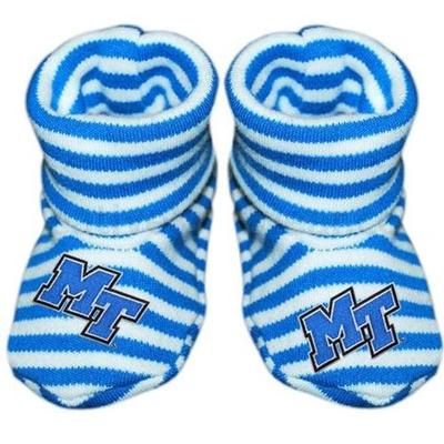 MTSU Infant Striped Booties