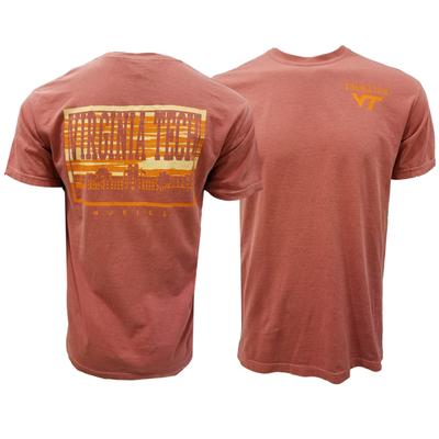 Virginia Tech Comfort Colors Campus Skyline T-Shirt
