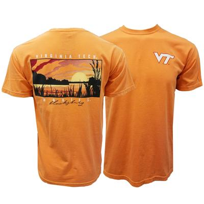 Virginia Tech Comfort Colors Lake Sunset T-Shirt
