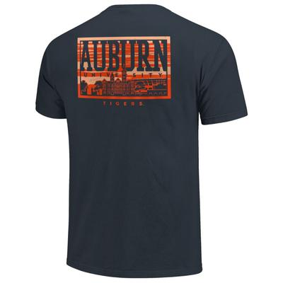 Auburn Campus Skyline Comfort Colors Shirt