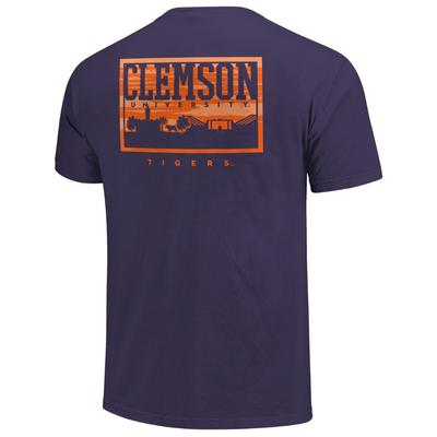 Clemson Campus Skyline Comfort Colors Shirt