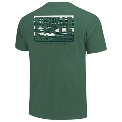 Michigan State Campus Skyline Comfort Colors Shirt