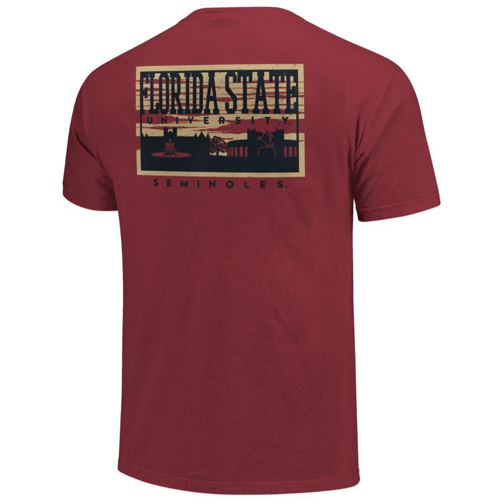 Florida State Campus Skyline Comfort Colors Shirt