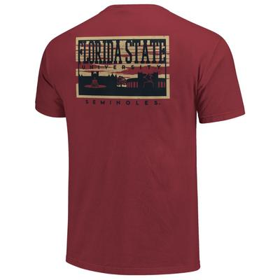Florida State Campus Skyline Comfort Colors Shirt