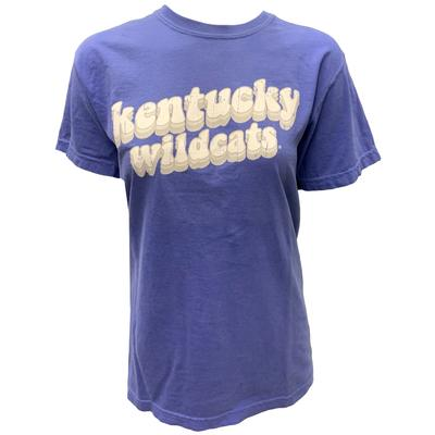 Kentucky Women's Groovy Stack Comfort Colors Shirt