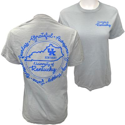 Kentucky Script State Circle Comfort Colors Tee