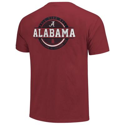 Alabama Striped Stamp Comfort Colors Shirt