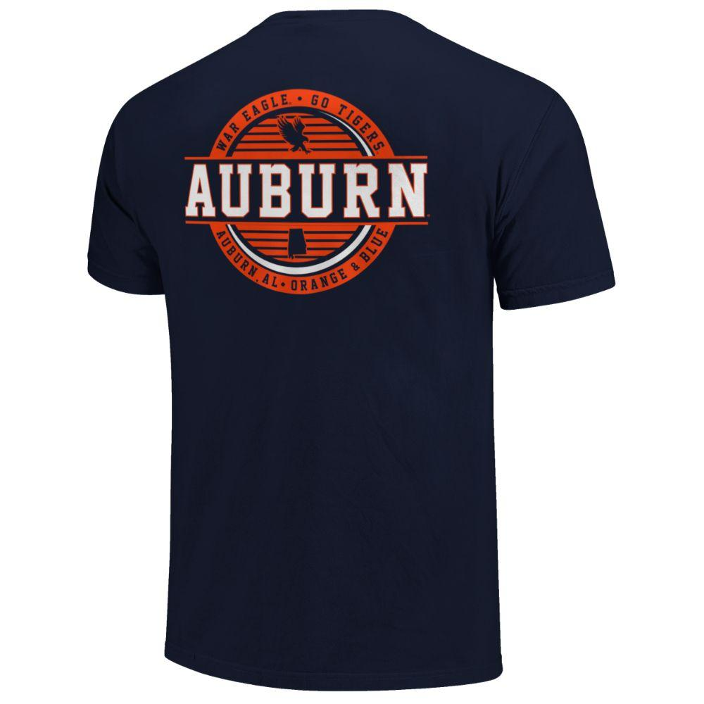 Auburn Striped Stamp Comfort Colors Shirt