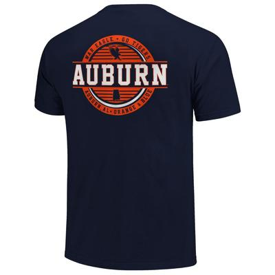 Auburn Striped Stamp Comfort Colors Shirt