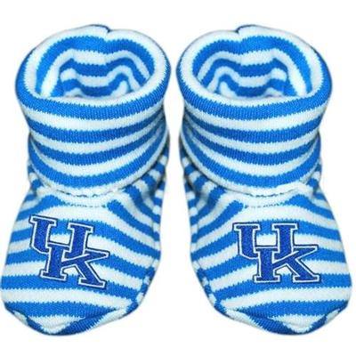Kentucky Infant Striped Booties