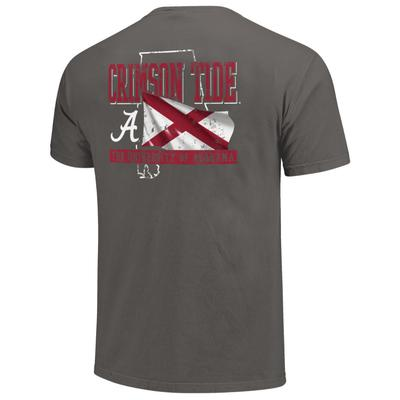 Alabama Crimson Tide State Flag Comfort Colors Shirt