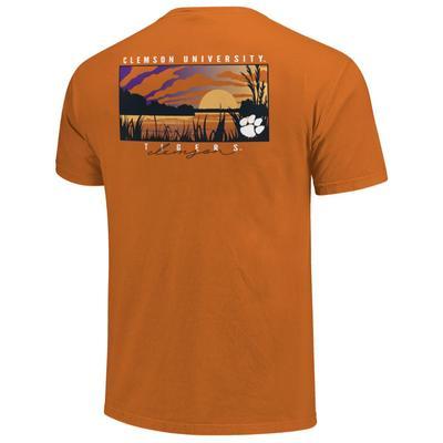 Clemson Lake Sunset Comfort Colors Shirt