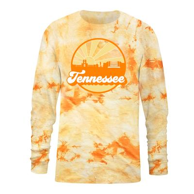 Tennessee Women's Tie Dye Crystal Wash Long Sleeve Tee