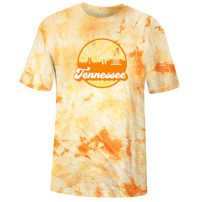 Tennessee Women's Far Out Tie Dye Crystal Wash Short Sleeve Tee