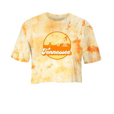 Tennessee Women's Far Out Tie Dye Crystal Wash Cropped Tee