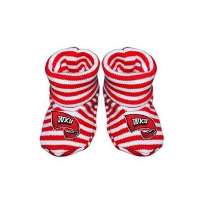 Western Kentucky Striped Booties
