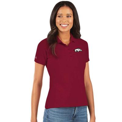 Arkansas Antigua Women's Legacy Pique Polo