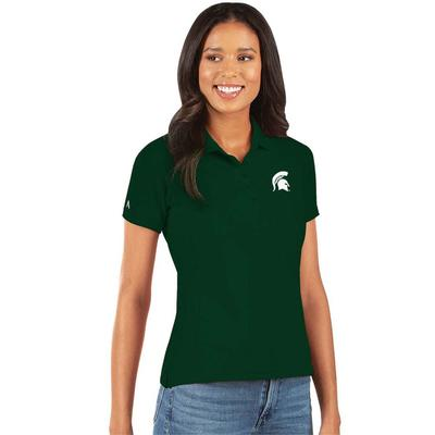 Michigan State Antigua Women's Legacy Pique Polo