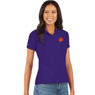 Clemson Antigua Women's Legacy Pique Polo