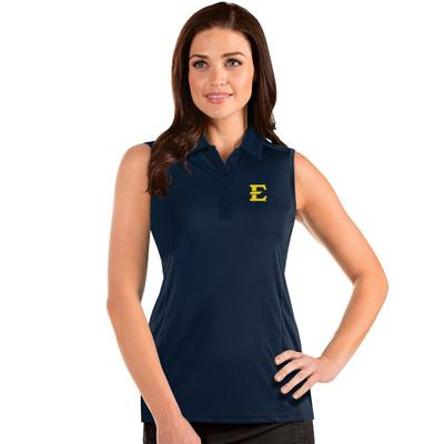 ETSU Antigua Women's Sleeveless Tribute Polo