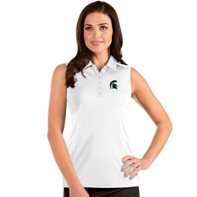 Michigan State Antigua Women's Sleeveless Tribute Polo
