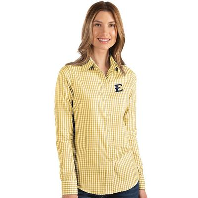 ETSU Antigua Women's Structure Gingham Woven Top