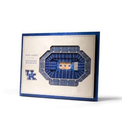 Kentucky 5-Layer 3D Rupp Arena Wall Art
