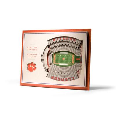 Clemson 5-Layer 3D Memorial Stadium View Wall Art