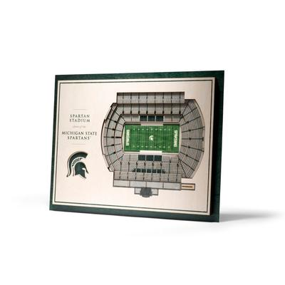 Michigan State 5-Layer 3D Spartan Stadium View Wall Art