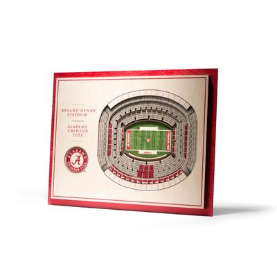 Alabama 5-Layer 3D Bryant-Denny Stadium View Wall Art