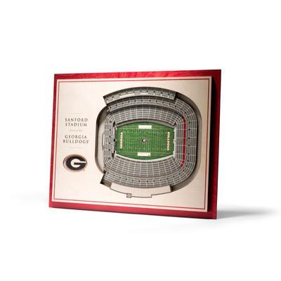 Georgia 5-Layer 3D Sanford Stadium View Wall Art