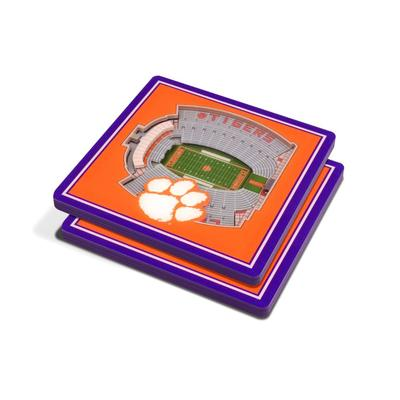 Clemson 3D Stadium Views Coasters