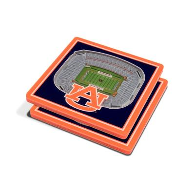 Auburn 3D Stadium Views Coasters