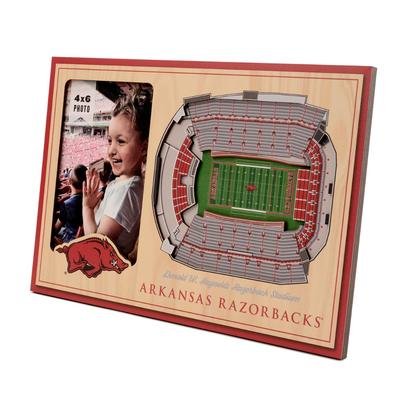 Arkansas 3D Stadium Views Picture Frame