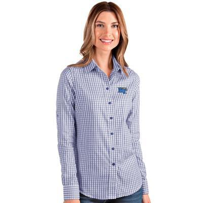MTSU Antigua Women's Structure Gingham Woven Top