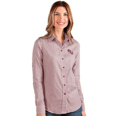 FSU Antigua Women's Structure Gingham Woven Top