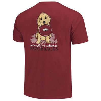 Arkansas Youth Girl Frisbee Puppy Tee